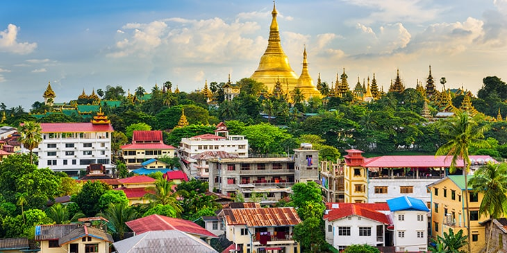 Cheapest flight offers to Yangon, Myanmar with Brightsun